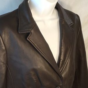 Liz Claiborne Brown Leather Jacket Medium